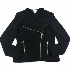 Calvin Klein Black Moto Zip Jacket Size Small